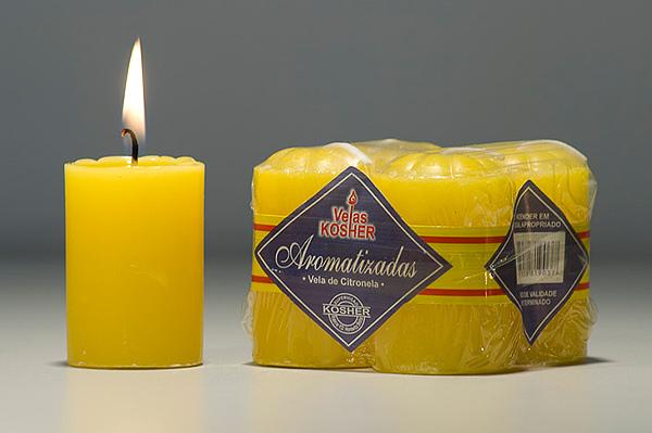Velas Aromatizada 4 unid. Citronela